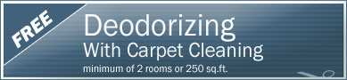 Cleaning Coupons | Free deodorising with carpet cleaning | Manhattan Carpets