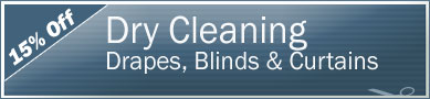 Cleaning Coupons | 15% off drapes, blinds and curtains | Manhattan Carpets