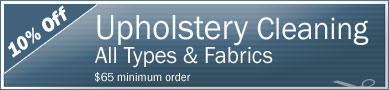 Cleaning Coupons | 10% off upholstery cleaning | Manhattan Carpets